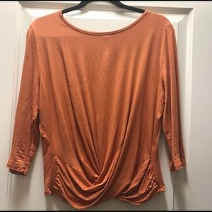 Tops - Orange 3/4 sleeve top